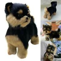 Yorkie Dog Cute Handmade Simulation Toy Dog Gifts Kids Christmas S0Y5
