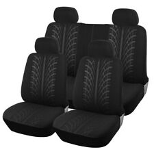 9PCS Black Car Seat Covers Protectors Universal Washable Pet Full Set Front Rear