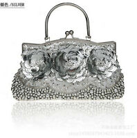 Womens Beaded Evening Bag Fashion Clutch Handbag Cocktail Party Prom Bag Purse