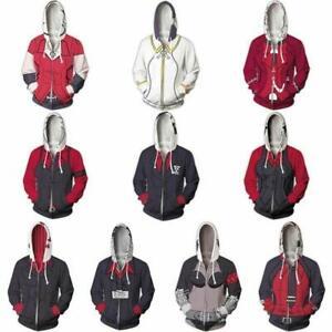 Helltaker Zdrada Azazel Beelzebub Hoodie Cosplay Costume Man Women Zipper Jacket