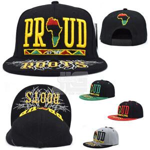Black Pride Leader Africa New Proud Roots Adjustable Adult Snapback Hat Cap