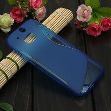 HOUSSE ETUI COQUE SILICONE GEL BLEU HTC ONE M8