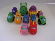 11 small rubber tonka trucks cars preschool multi-colors
