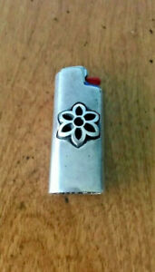 Good Art Hlywd Rosette Lighter Case  - Sterling Silver
