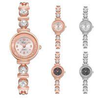 Women's Mini Crystal Dial Watch Stainless Steel Bracelet Quartz Wrist Watches