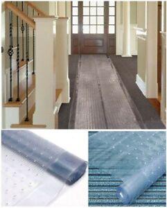 Clear Carpet Protector Guard Runner Plastic Vinyl Anti Non Slip Mat Hallway Roll