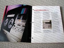 MAKE OFFER - Ampex AVR-3 reel to reel video tape recorder brochure, RARE