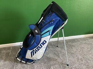 RARE Mizuno Golf AERO FRAME Blue & White STAND BAG Lightweight Exo-Frame Used