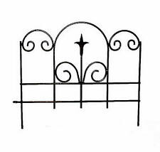 Panacea Products 89382 Black Garden Edge With Finial, 16 x 18-1/2-In. - Quantity