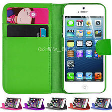 Leather Wallet Book Flip Back Phone Case Cover For Apple iPhone 7 6 Plus 4 5 SE