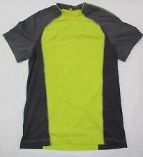 Lululemon Mens Short Sleeve Top Shirt Yellow Gray Running Gym Size Medium EUC
