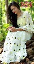 New Designer Bollywood Saree Fabric Georgette Party wear Embroidered Sari Blouse