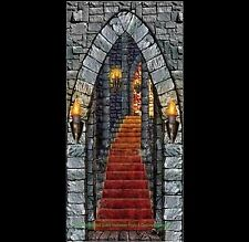 Gothic Halloween Prop CASTLE ENTRANCE DOOR COVER Wall Party Medieval Decoration