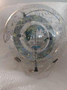 "1977 Farquhar ""Earth in Space"" Globe ~ Celestial Transparent Globe ~ Very Rare!"
