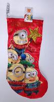 "Kurt S Adler Christmas stocking 20"" Despicable ME minions NEW"