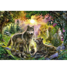 New ListingDiy 5D Diamond Painting Embroidery Wolf Family Kits Art Embroidery Leisure