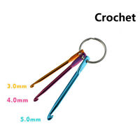3pcs Mixed Aluminum Crochet Hook Knitting Knit Needle Weave Yarn DIY Tool Set