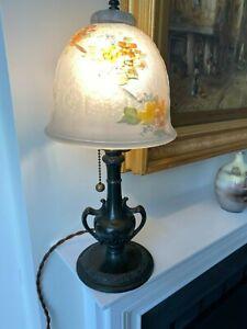 Pairpoint Reverse Painted Boudoir Lamp Handel Bradley Hubbard Style Low Reserve