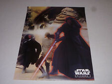 STAR WARS EPISODE I THE PHANTOM MENACE POSTER DARTH MAUL JABA THE HUTT JEDI >>