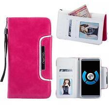 Handy Tasche Schutz hülle Wallet Case Etui Flip Cover für Sony Xperia Z5 Pink