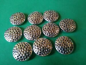 17mm round For Jewellery Making 30 Pearly White Disc Beads with centre hole