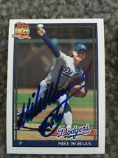 MIKE MORGAN signed baseball card LOS ANGELES DODGERS autograph