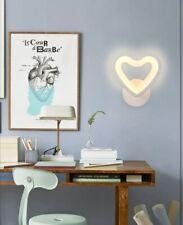 Applique led da parete CUORE Bianco lampada muro moderno luce cameretta da letto