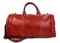 Borsone pelle uomo donna rosso borsa viaggio con tracolla borsa palestra cabina