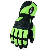 Motorradhandschuhe Winter Fahrrad Motorrad Handschuhe Wasserdicht Schwarz / Neon