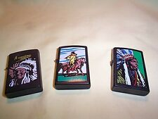 THREE WIND PROOF  LIGHTERS (NEW)