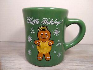 Waffle House Holiday Coffee Mug w/ Gingerbread man 2016 Christmas Green Cup