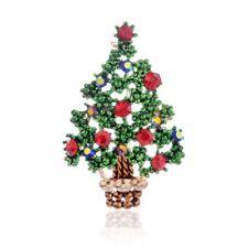 1PC Colorful Women Christmas Tree Rhinestone Brooch Pins Jewelry Holiday Gift
