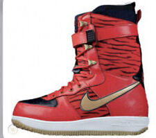 Nike Zoom Force 1 ZF1 Snowboard Boots 334841-671 Size 12 US Red Tiger Print SBB