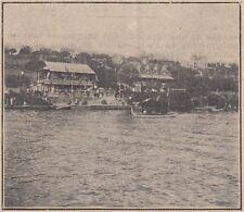 G2691 France - Herblay - Pavillon du yacht Moteur-Club - 1924 vintage print