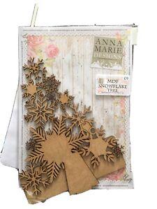 MDF snowflake Tree Anna Marie Designs Brand New
