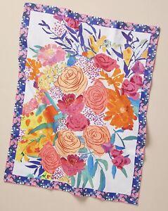 Anthropologie Bridgette Thornton Paint + Petals Dish Towel 100% Cotton