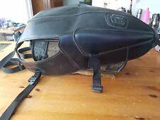 Copri Serbatoio Moto Pelle Nera ,imbottitura proteggi ginocchia,