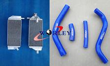 L&R ALUMINUM RADIATOR YAMAHA YAMAHA YZ250F YZF250 2014 2015 14 15 and blue hoses