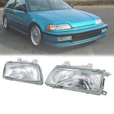 NEW Glass Headlight Lamp For Honda Civic SH3 ED6 EF1 EF2 3DR Hatchback 1990-91