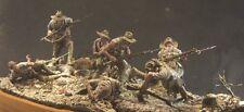 AC Modelli WW1 Anzac addebito GALLIPOLI 1915 10 Figure Set 1/32nd NON VERNICIATA KIT