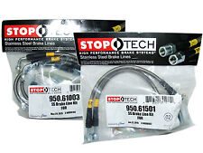 Stoptech Stainless Steel Braided Brake Lines (Front & Rear Set / 61003+61501)