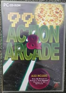 99 Action & Arcade Games (Windows PC, 2007)  New & Sealed PC CD-ROM
