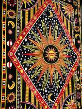 Twin Tapestry Celestial Sun and Moon Tapestries Zodiac Nepali Thangka Art