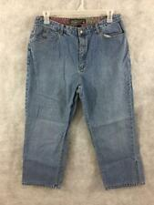 Chicos denim jeans size 3 dark wash cuffed 33 x 25 ankle XL 16