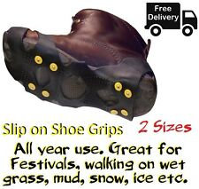Slip On Shoe Grips | Snow/Mud Walking Hiking Camping etc. | Great for Festivals