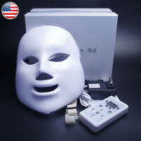 New Therapy Photon LED Face Facial Mask 7 Colors Light Skin Care Rejuvenation US