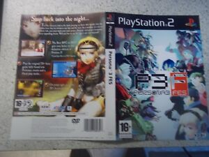 PERSONA 3 FES.PAL PLAYSTATION 2 Replacement Box Art Sleeve/ Inlay Only.