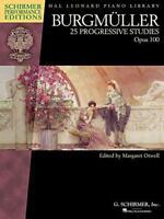 Burgmuller: 25 Progressive Studies, Op. 100 (Schirmer Performance Editions) (Sch