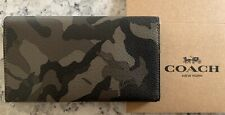 NWT Coach Men's Large Universal Phone Case Wallet Camo Coated Canvas F78684 $125