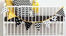 Buntings Flagging Baby Cot Flags Modern Scandinavian Style 8 Stars Stripes Cloud